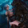 Ciri and werewolf The Witcher 3