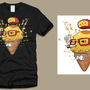 Hipster cone Tshirt by MACHINA-3014