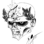 Zombie Black and White Head by Otone