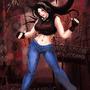 metal girl dancing by FASSLAYER
