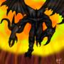 Demonic Dragon by fadedshadow