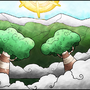 clouded trees by jellyfishboy