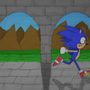 Sonic Running COLORED by 123mine123