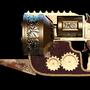 Steampunk revolver by whatthemeh
