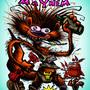 Meerkat Mayhem book cover by JWBalsley