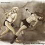 Prehistoric girls fight 02 by FASSLAYER
