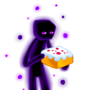 Endy with cake by Tedka