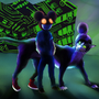 Deadmau5 and Meowington5 by Zalariah