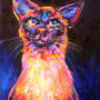 Color Point Cat by Schlady