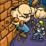 Abobo through a wall by BoMToons