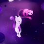 Mew & Mewtwo by Zakuga