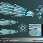 Karsh'Qua Warship - LowPoly 3D by Chadcellor