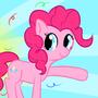 Pinkie Pie doing Pinkie Things by hjhkbn