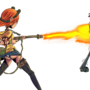 Chick A With Flamethrower by PyroToaster