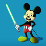 Mickey Mouse with a Lightsaber by itsKris