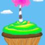Truffula Tree Cupcake by Hnilmik