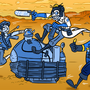 Three Girls, One Cart by Bobfleadip