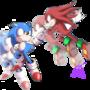 Sonic vs Knuckles by Elcamaron