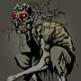 Decaying Zombie w/ Plants by Shayl