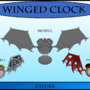 3D Winged Clock Lowpoly by Zayder
