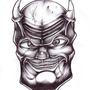 Smiling Demon head by OzMafioso