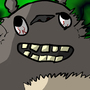 Totoro Looking Crazy