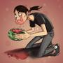 A messy eater by Nerdbayne