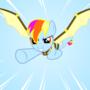 Flying Aurora by Kneezle