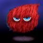Red Fluff Ball by DynTravi