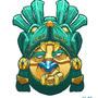 Mayan warrior mask by MACHINA-3014