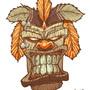 Tiki God mask by MACHINA-3014