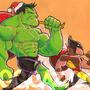 Hulk and Wolverine Gift Giving by BiggCaZv2