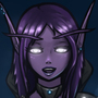 Night elf OC for my friend by psyk323