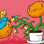fuzzy plant pet by Havayosunu