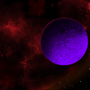Moon of a Fiery Giant by BrainofBarbedWires