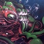 Cuthulu wall painting by Hildebrandt