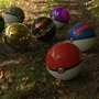 Pokeballs in the Woods