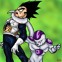 Frieza vs Vegeta by fadedshadow