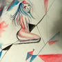 watercolor geometric chick