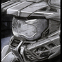 Master Chief Pencil Drawing by Adovion