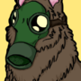 Gas Mask Wolf Inked/Colored by LynxieJohnson