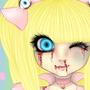 Little girl in pink dress by MechNightPunk