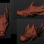 Dragon head sculpture by SipyDragon