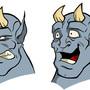 Drunken Demon head designs by Mackie85