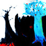 blue tree by ZoMBieFRogTeacher