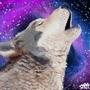 Ironic Wolf Galaxy by STRAT0S