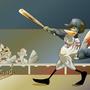 Teddy hits a homer