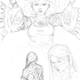 China Sorrows sketch by VincentVyce