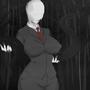 Slender woman clothed