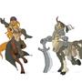 Monster girls: centaur by Cenaf